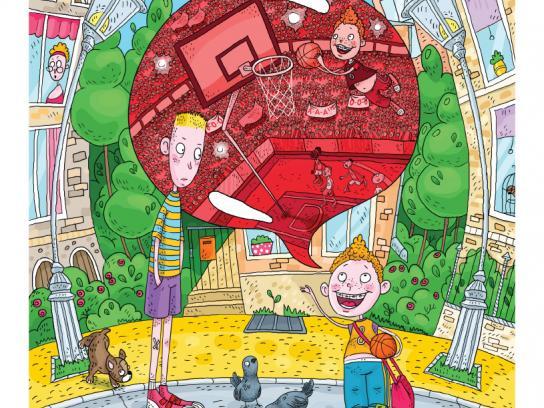Hubba Bubba Print Ad -  Basketball