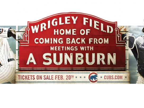 The Chicago Cubs Print Ad -  Sunburn