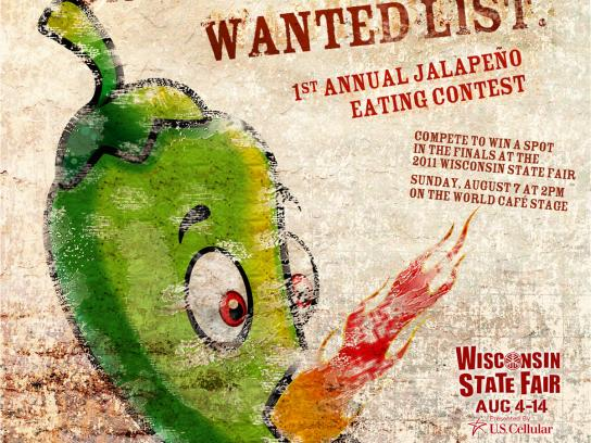 Wisconsin State Fair Print Ad -  Jalapeno Eating Contest, 2