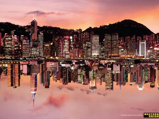 Western Union Print Ad -  Hong Kong/New York