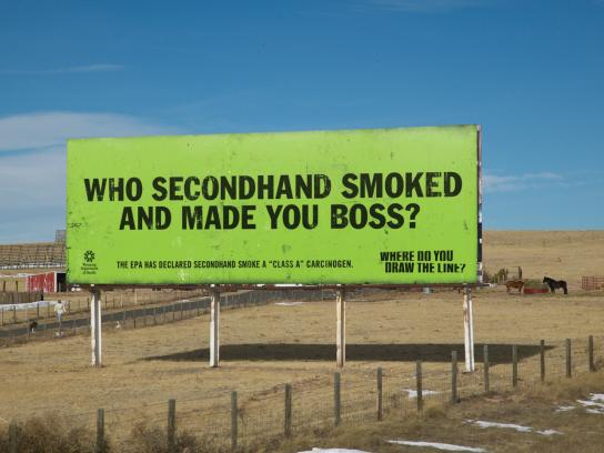 Wyoming Department of Health Outdoor Ad -  Boss