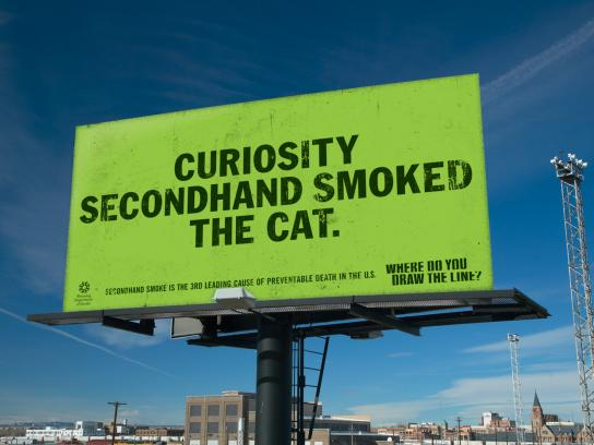 Wyoming Department of Health Outdoor Ad -  Cat