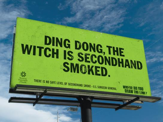 Wyoming Department of Health Outdoor Ad -  Witch