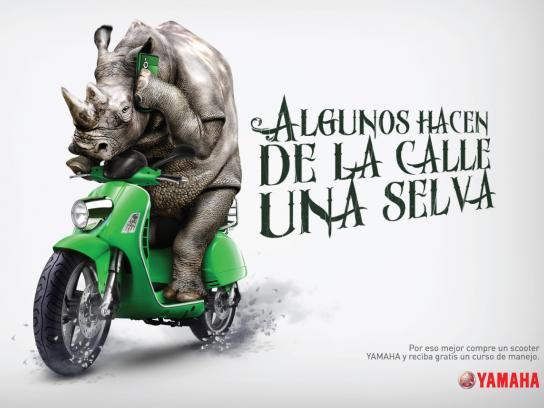 Yamaha Print Ad -  Rhinoceros