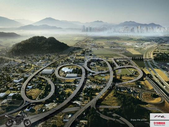 Yamaha Print Ad -  Promotional road