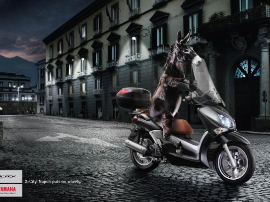 Yamaha Print Ad -  Donkey
