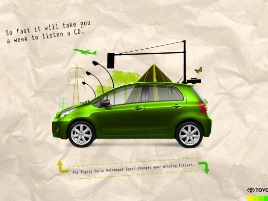 Toyota Print Ad -  Yaris Hatchback Sport Green
