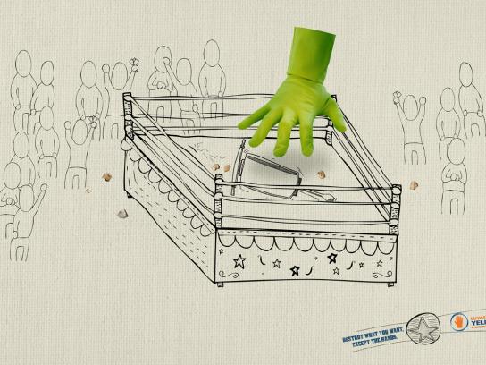 Yeling Print Ad -  Hands