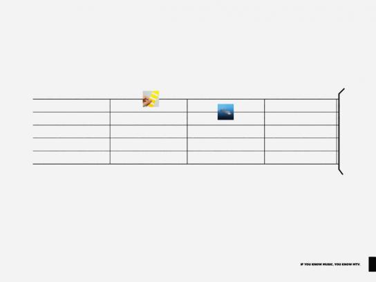 MTV Print Ad -  Chords, Yellow submarine