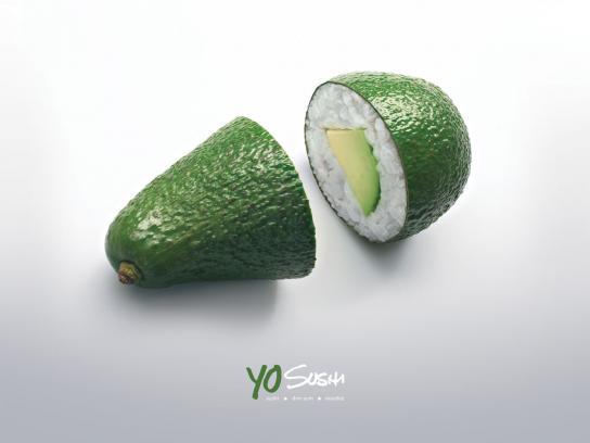 Yo Sushi Print Ad -  Avocado