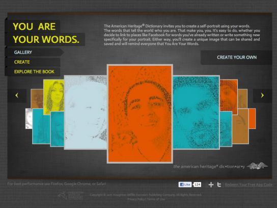 American Heritage Dictionary Digital Ad -