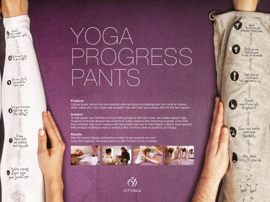 Cityoga Direct Ad -  Yoga progress pants