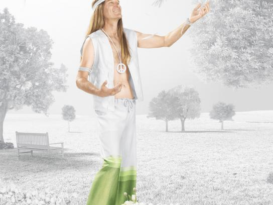 Danone Print Ad -  70%, Hippie