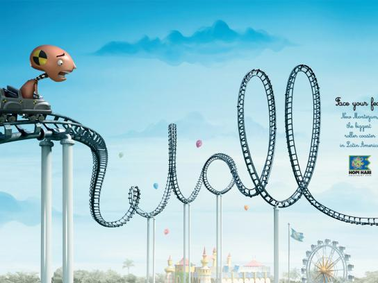 Hopi Hari Theme Park Print Ad -  Roller Coaster, Wall