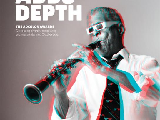 ADCOLOR Awards Print Ad -  Color Adds Depth, Clarinet