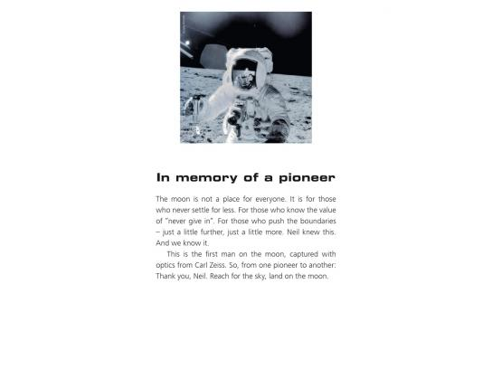 Carl Zeiss Print Ad -  In memory of...