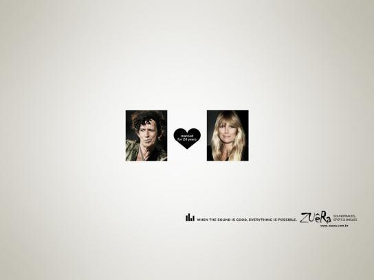 Zuêra Print Ad -  Keith Richards