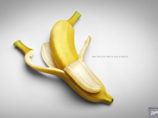 Ziploc Print Ad -  Bananas