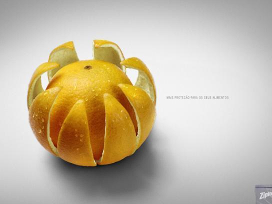 Ziploc Print Ad -  Oranges