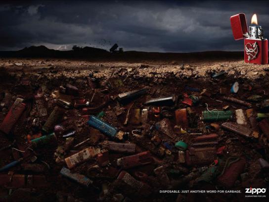 Zippo Print Ad -  Garbage, 1