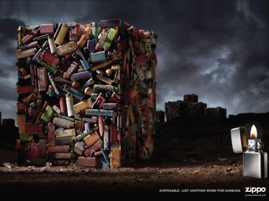 Zippo Print Ad -  Garbage, 2