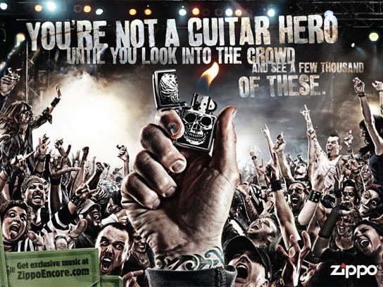 Zippo Print Ad -  Guitar hero