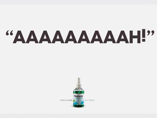 Noraver Print Ad -  Zombie