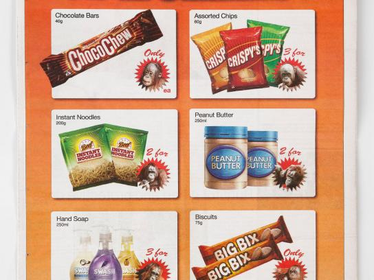 Auckland Zoo Print Ad -  Palm Oil Free Shopping Guide