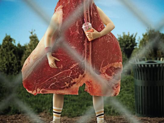 Calgary Zoo Print Ad -  Steak