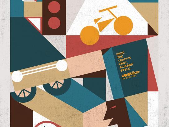 Zoobiker Print Ad -  Traffic knot