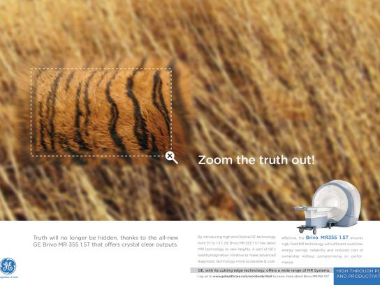 GE Print Ad -  Zoom the truth out, 2