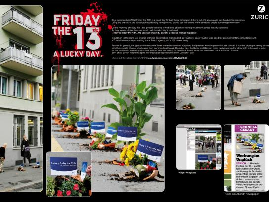 Zurich Ambient Ad -  Friday the 13th