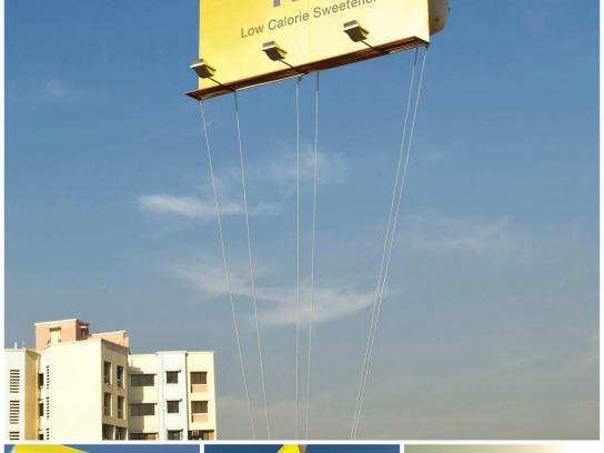 Sugar Free Outdoor Ad -  Floating Billboard