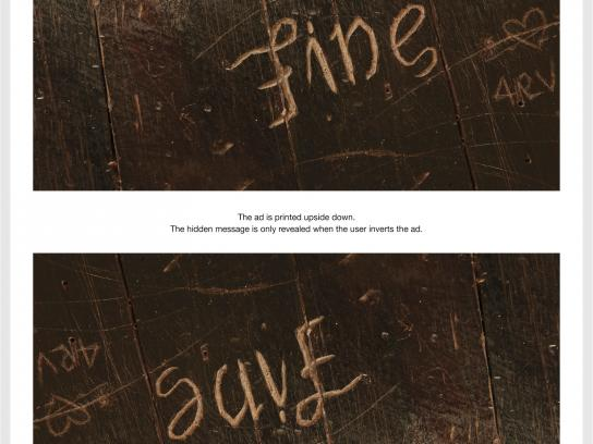 SOS Print Ad -  The Hidden Pain, I'm Fine / Save Me