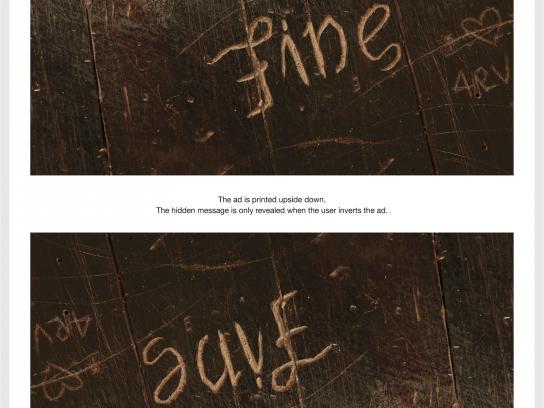 SOS Print Ad -  The Hidden Pain, I'm Fine / Save Me