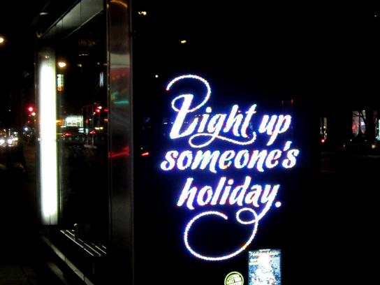 New York Lottery Outdoor Ad -  Light up someone's holiday.