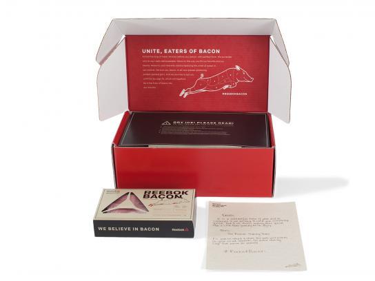 Reebok Direct Ad -  Bacon box