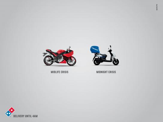 Domino's Pizza Print Ad - Midnight Crisis