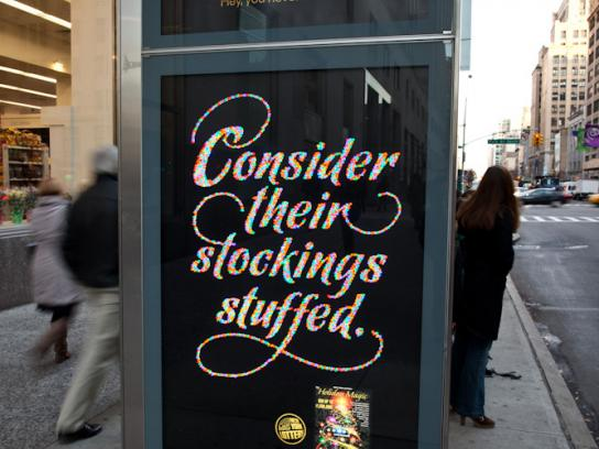 New York Lottery Outdoor Ad -  Consider their stockings stuffed.