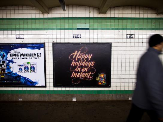 New York Lottery Outdoor Ad -  Happy holidays in an instant.