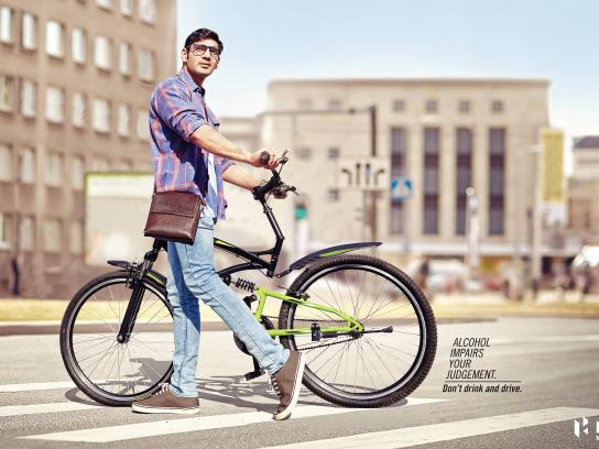 Hero Motocorp Print Ad - Impaired Judgment - Cyclist