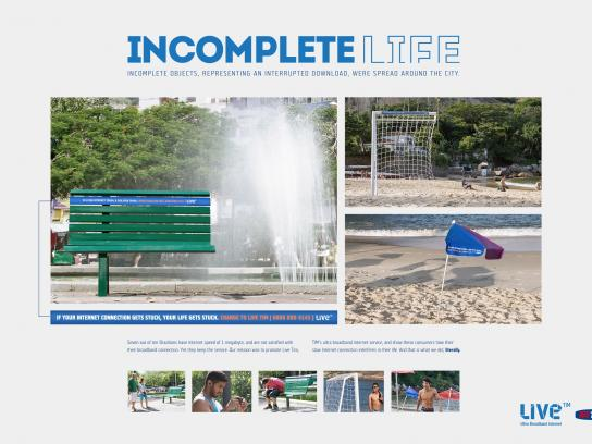 Live Ambient Ad -  Incomplete life