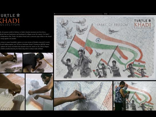 Turtle Khadi Ambient Ad - Independence Day