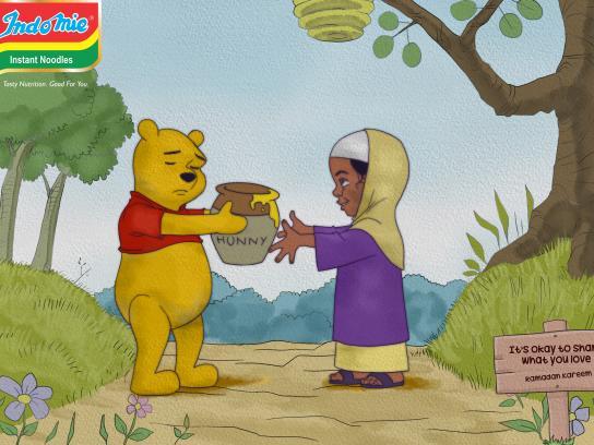 Indomie Noodles Print Ad - Pooh