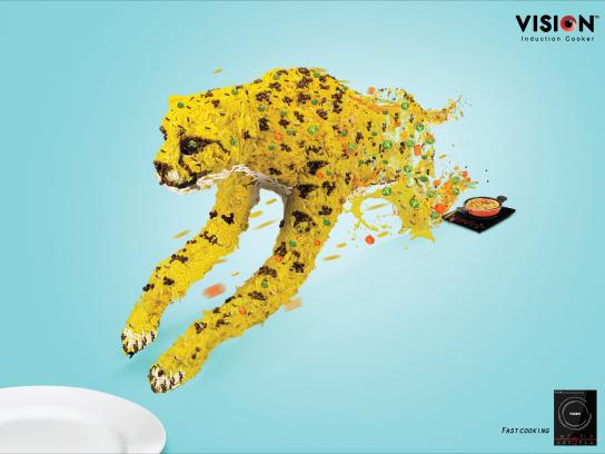 Vision Electronics Print Ad - Fast Cooking