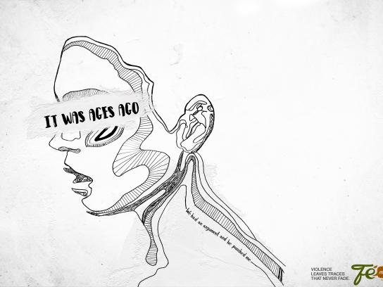 Fé Menina Cosmetics Print Ad - Violence leaves traces that never fade, 2