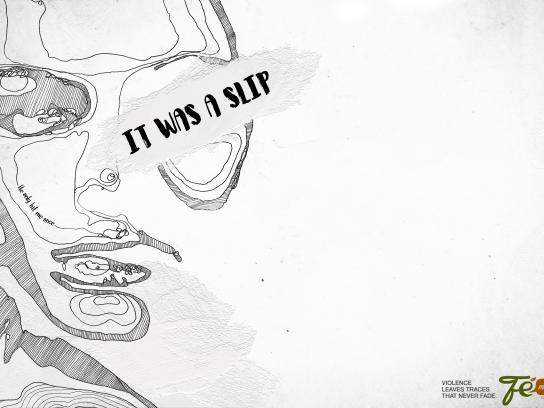 Fé Menina Cosmetics Print Ad - Violence leaves traces that never fade, 3