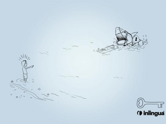Inlingua Print Ad -  Shark