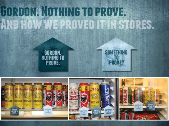 Gordon Finest Beers Outdoor Ad -  In-store Wobblers