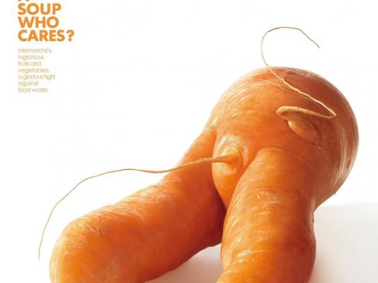 Intermarche Print Ad -  Ugly carrot